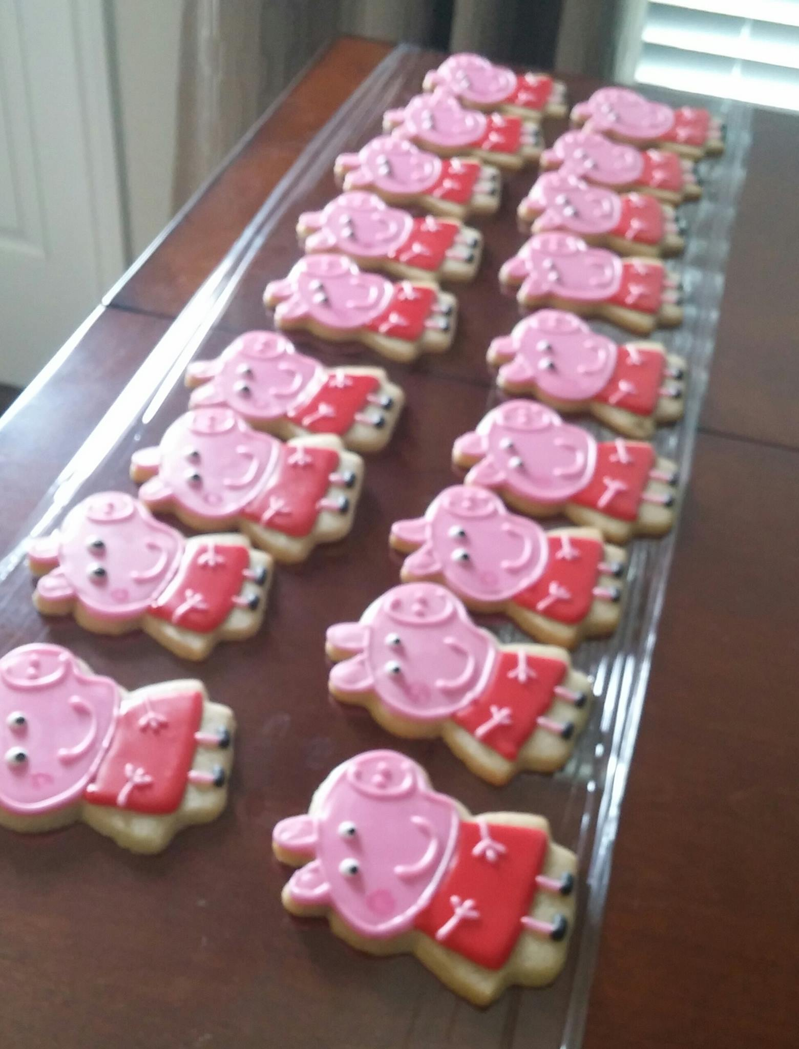 Peppa Pig And Brother George Cookies Blue Lily Treats