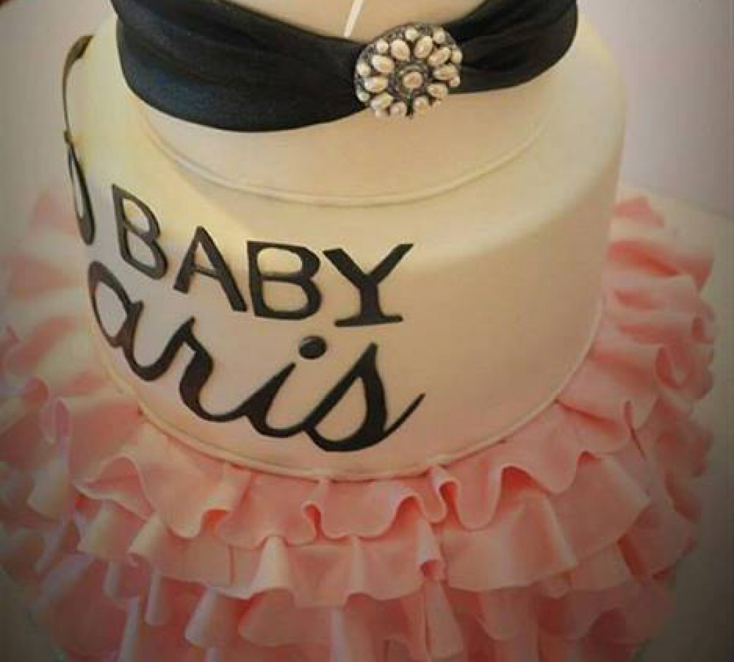 Paris Themed Baby Shower Cake Blue Lily Treats
