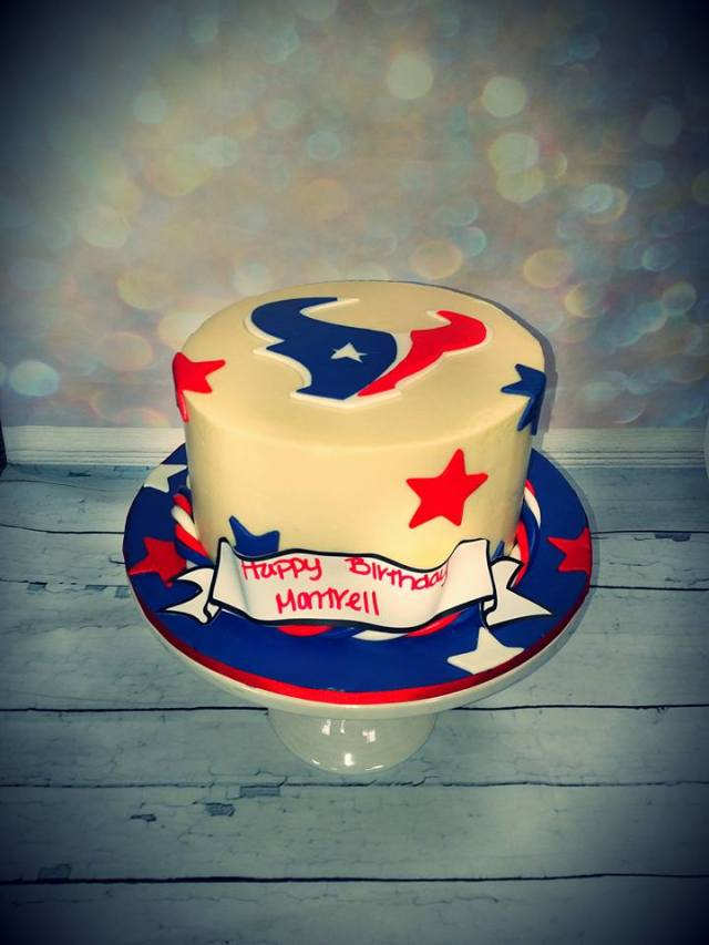Texans Inspired Birthday Cake Blue Lily Treats
